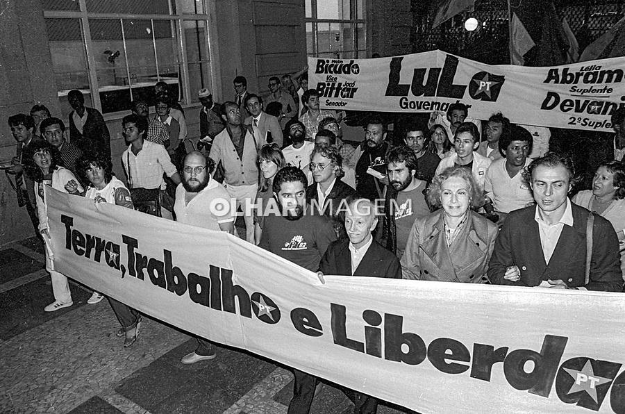 Lula em campanha ao governo do estado, Sao Paulo. 1982. Foto Juca Martins