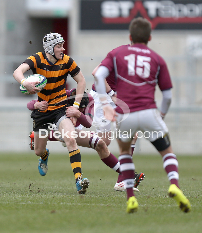 CAI vs RBAI | Tuesday 3rd March 2015<br /> <br /> Andrew McGreggor during the 2015 Ulster Schools Cup Semi-Final between Coleraine Inst and RBAI at the Kingspan Stadium, Ravenhill Park, Belfast, Northern Ireland.<br /> <br /> Picture credit: John Dickson / DICKSONDIGITAL