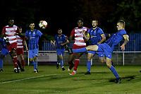 Bradley Bennett of Redbridge clears the ball during Redbridge vs Ilford, Essex Senior League Football at Oakside Stadium on 15th October 2021
