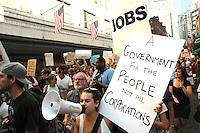 Occupy Boston 99% Columbus Day Rallyin downtown Bosston, MA<br /> October 10, 2011_0605