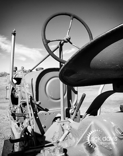 An old Farmall tractor awaits competition in the Old Iron Association tractor pull contest held in Brighton, Colorado.