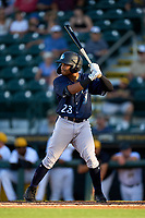 Tampa Tarpons Madison Santos (23) bats during Game Two of the Low-A Southeast Championship Series against the Bradenton Marauders on September 22, 2021 at LECOM Park in Bradenton, Florida.  (Mike Janes/Four Seam Images)