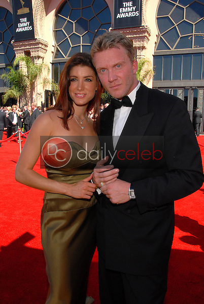 Corinne Saffell and Anthony Michael Hall<br />arriving at the 58th Annual Primetime Emmy Awards. The Shrine Auditorium, Los Angeles, CA. 08-27-06<br />Scott Kirkland/DailyCeleb.com 818-249-4998