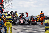 Verizon IndyCar Series<br /> Kohler Grand Prix<br /> Road America, Elkhart Lake, WI USA<br /> Sunday 25 June 2017<br /> Mikhail Aleshin, Schmidt Peterson Motorsports Honda pit stop<br /> World Copyright: Michael L. Levitt<br /> LAT Images