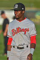 Taylor Trammell (18) of the Billings Mustangs before the game against the Orem Owlz in Game 2 of the Pioneer League Championship at Home of the Owlz on September 16, 2016 in Orem, Utah. Orem defeated Billings 3-2 and are the 2016 Pioneer League Champions. (Stephen Smith/Four Seam Images)