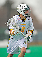 1 April 2008: University of Vermont Catamounts' Brandon Goodwyn, a Junior from Bethesda, MD, in action against the Fairfield University Stags at Moulton Winder Field, in Burlington, Vermont. The Catamounts rallied to overcome a five goal deficit and defeat the visiting Stags 9-8 notching their third win of the season...Mandatory Photo Credit: Ed Wolfstein Photo