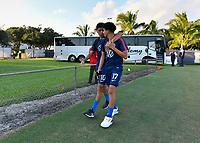 Miami, FL - Tuesday, October 15, 2019:  Richard Ledezma #17, Alex Mendez #10 during a friendly match between the USMNT U-23 and El Salvador at FIU Soccer Stadium.