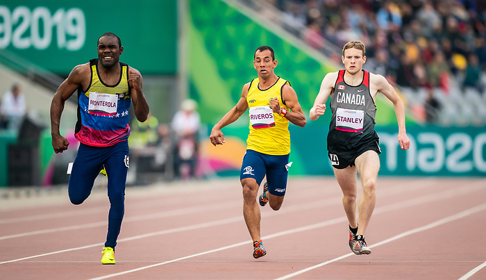Liam Stanley, Lima 2019 - Para Athletics // Para-athlétisme.<br /> Liam Stanley competes in men's 400m T37. // Liam Stanley participe au 400 m T37 masculin. 25/08/2019.