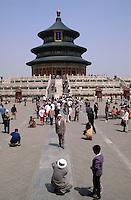China, Peking, Himmelstempel, Halle des Ernteopfers (Qiniandian), Unesco-Weltkulturerbe