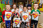 Miss Donovan's Junior Infant super heroes ready for the stage at their Christmas Play in Scoil Eoin Balloonagh on Monday.<br /> Front l to r Ellie Wattam-Dunworth and Peter Soliman. Back l to r: Killian Shaughessey, Ella Dowling, Cara Scott, Orla Falvey. Liam Shaughessey.