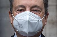 17.02.2021 - Italian Prime Minister Mario Draghi Arrives at Italian Senate