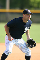 March 17th 2008:  Mitch Hilligoss of the New York Yankees minor league system during Spring Training at Legends Field Complex in Tampa, FL.  Photo by:  Mike Janes/Four Seam Images