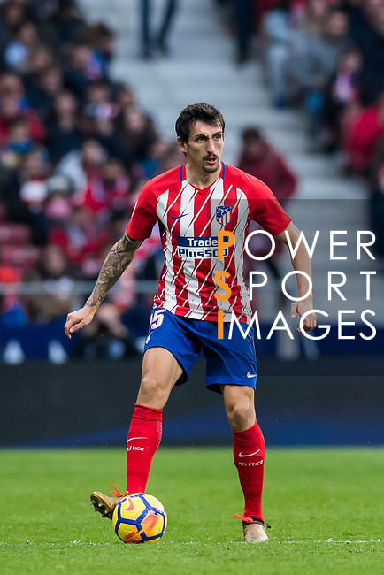 Stefan Savic of Atletico de Madrid in action during the La Liga 2017-18 match between Atletico de Madrid and Girona FC at Wanda Metropolitano on 20 January 2018 in Madrid, Spain. Photo by Diego Gonzalez / Power Sport Images