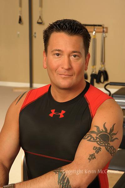 Pilates instructor Brandon Gamble