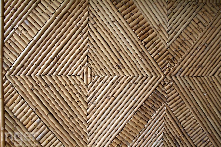 Woven rattan matting in Tonga