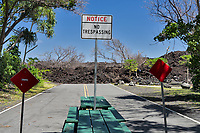 Recent Lava flow (2018) at Isaac Hale State Park, The Island of Hawaii, The big Island
