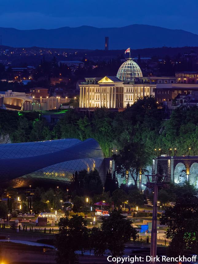 Präsidentenpalast in Awlabari, Tiflis – Tbilissi, Georgien, Europa<br /> presidential palace in Awlabari Tbilisi, Georgia, Europe