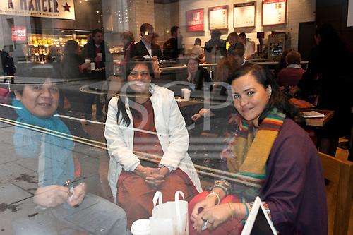 London, England. Visit of Sheyla Yakarepi Juruna, Chief Almir Narayamoga Surui and Ruth Buendia Mestoquiari Ashaninka to London to highlight the impact of hydroelectric dams proposed for the rivers of the Amazon basin, 02/03/2011.