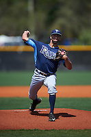 Tampa Bay Rays Benton Moss (56) during a minor league Spring Training game against the Boston Red Sox on March 23, 2016 at Charlotte Sports Park in Port Charlotte, Florida.  (Mike Janes/Four Seam Images)
