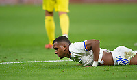 25th September 2021; Estadio Santiagp Bernabeu, Madrid, Spain; Men's La Liga, Real Madrid CF versus Villarreal CF; Rodrigo Goes of Real Madrid after a missed goal chance
