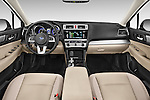 Stock photo of straight dashboard view of a 2017 Subaru Legacy 2.5I Premium 4 Door Sedan 2WD Dashboard