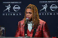 New York, NY - December 14, 2019: Heisman Trophy finalist Ohio State Defensive End Chase Young participates in a media availability at the New York Marriott Marquis before the announcement of the 2019 Heisman Trophy Award December 14, 2019.  (Photo by Don Baxter/Media Images International)