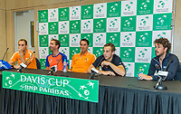 The Hague, The Netherlands, September 17, 2017,  Sportcampus , Davis Cup Netherlands - Chech Republic, pressconference Dutch team<br /> Photo: Tennisimages/Henk Koster
