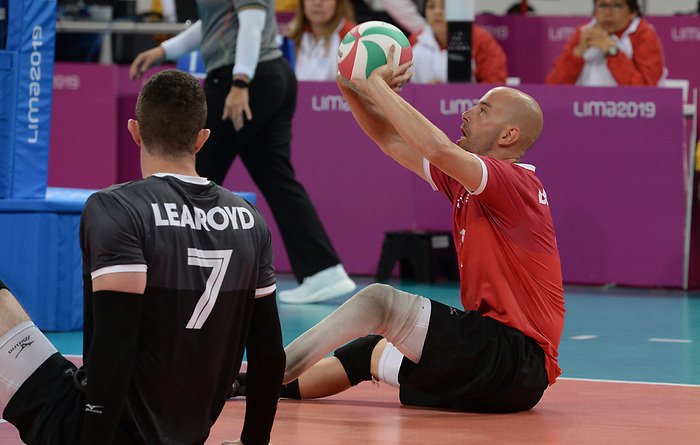 Mikael Bartholdy, Doug Learoyd, Lima 2019 - Sitting Volleyball // Volleyball assis.<br /> Canada competes in men's Sitting Volleyball // Canada participe au volleyball assis masculin. 24/08/2019.