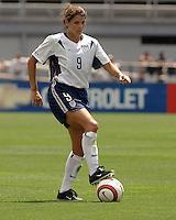 Mia Hamm v Brazil.US Women's National Team vs Brazil at Legion Field in Birmingham, Alabama.