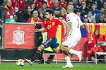 Spain's Jesus Navas and Norway's Haitam Aleesami  during the qualifying match for Euro 2020 on 23th March, 2019 in Valencia, Spain. (ALTERPHOTOS/Alconada)