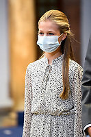OVIEDO, SPAIN - OCTOBER 16: **NO SPAIN** Crown Princess Leonor of Spain attends an audience to congratulate the winners at the Reconquista Hotel during the 'Princesa De Asturias' Awards 2020 on October 16, 2020 in Oviedo, Spain. <br /> CAP/MPI/RJO<br /> ©RJO/MPI/Capital Pictures