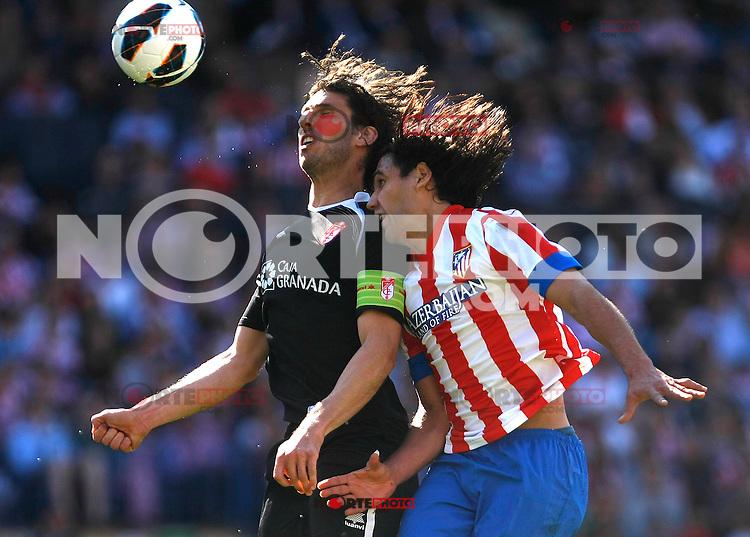 Atletico's Falcao  during La Liga BBVA match. April 14, 2013.(ALTERPHOTOS/Alconada)