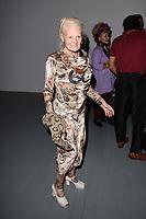 Dame Vivienne Westwood<br /> front row at the Matty Bovan London Fashion Week SS18 catwalk show, London<br /> <br /> ©Ash Knotek  D3431  14/09/2018