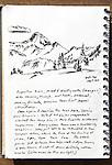 Eagle Cap Wilderness, Eagle Cap, Oregon, ink on paper, Journal Art 2010,