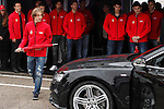 Real Madrid player Luka Modric participates and receives new Audi during the presentation of Real Madrid's new cars made by Audi at the Jarama racetrack on November 8, 2012 in Madrid, Spain.(ALTERPHOTOS/Harry S. Stamper)
