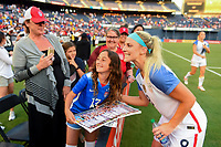 San Diego, CA - Sunday July 30, 2017: Julie Ertz celebrates their win during a 2017 Tournament of Nations match between the women's national teams of the United States (USA) and Brazil (BRA) at Qualcomm Stadium.