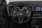 Car pictures of steering wheel view of a 2017 Mitsubishi Outlander GT 5 Door SUV Steering Wheel