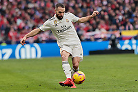 Real Madrid's Dani Carvajal during La Liga match between Atletico de Madrid and Real Madrid at Wanda Metropolitano Stadium in Madrid, Spain. February 09, 2019. (ALTERPHOTOS/A. Perez Meca)<br /> Liga Campionato Spagna 2018/2019<br /> Foto Alterphotos / Insidefoto <br /> ITALY ONLY