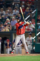 Pawtucket Red Sox right fielder Cole Sturgeon (22) at bat during a game against the Rochester Red Wings on July 4, 2018 at Frontier Field in Rochester, New York.  Pawtucket defeated Rochester 6-5.  (Mike Janes/Four Seam Images)
