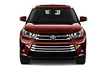 Car photography straight front view of a 2019 Toyota Highlander XLE 5 Door SUV Front View