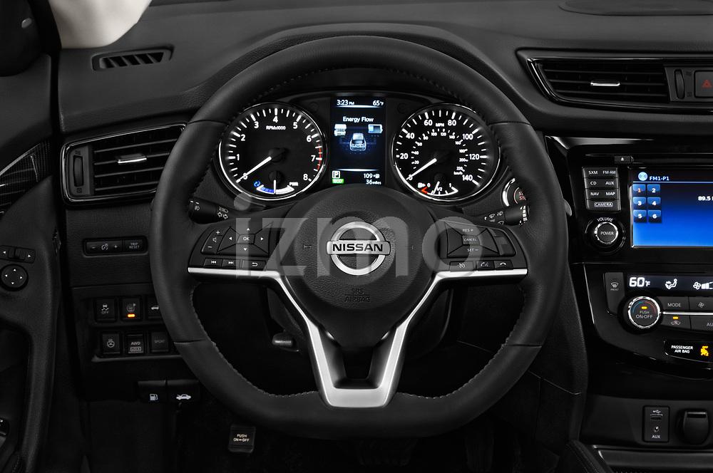 Car pictures of steering wheel view of a 2017 Nissan Rogue SL-Hybrid 5 Door SUV Steering Wheel