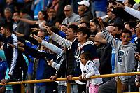 BOGOTÁ - COLOMBIA, 22-07-2018: Hinchas de Millonarios animan a su equipo durante partido de la fecha 1 entre Millonarios y Boyacá Chicó F. C., por la Liga Aguila II-2018, jugado en el estadio Nemesio Camacho El Campin de la ciudad de Bogota. / Fans of Millonarios cheer for their team during a match of the 1st date between Millonarios and Boyaca Chico F. C., for the Liga Aguila II-2018 played at the Nemesio Camacho El Campin Stadium in Bogota city, Photo: VizzorImage / Luis Ramirez / Staff.