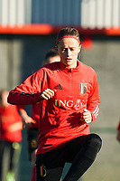 20200911 - TUBIZE , Belgium : Julie Biesmans pictured during the training session of the Belgian Women's National Team, Red Flames ahead of the Women's Euro Qualifier match against Switzerland, on the 28th of November 2020 at Proximus Basecamp. PHOTO: SEVIL OKTEM | SPORTPIX.BE