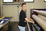 Federica printing department Santini Factory, Lallio, Italy. 30th September 2015.<br /> Picture: Eoin Clarke | Newsfile