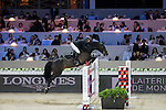 John Whitaker on Argento competes during the Airbus Trophy at the Longines Masters of Hong Kong on 20 February 2016 at the Asia World Expo in Hong Kong, China. Photo by Victor Fraile / Power Sport Images