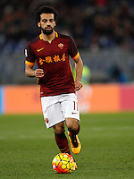 Calcio, Serie A: Roma vs Sampdoria. Roma, stadio Olimpico, 7 febbraio 2016.<br /> Roma's Mohamed Salah in action during the Italian Serie A football match between Roma and Sampdoria at Rome's Olympic stadium, 7 January 2016.<br /> UPDATE IMAGES PRESS/Riccardo De Luca