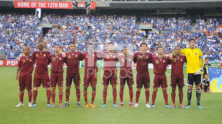 Venezuela national team. El Salvador National Team defeated Venezuela 3-2 in an international friendly at RFK Stadium, Sunday August 7, 2011.