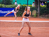 Hilversum, Netherlands, August 5, 2021, Tulip Tennis center, National Junior Tennis Championships 16 and 18 years, NJK, Girls Doubles 18 years, Floor Lissone (NED) and Charlotte van Zonneveld (NED)<br /> Photo: Tennisimages/Henk Koster