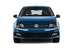 Car photography straight front view of a 2016 Volkswagen Polo Blue-GT 5 Door Hatchback Front View