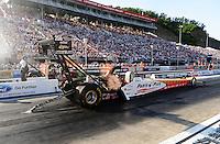 Jun. 15, 2012; Bristol, TN, USA: NHRA top fuel dragster driver Clay Millican during qualifying for the Thunder Valley Nationals at Bristol Dragway. Mandatory Credit: Mark J. Rebilas-